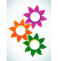 flower abstract banner vector image vector image