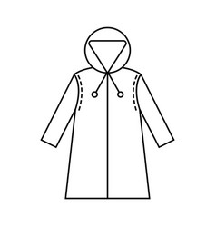 rain cover raincoat flat icon object of clothes vector image vector image