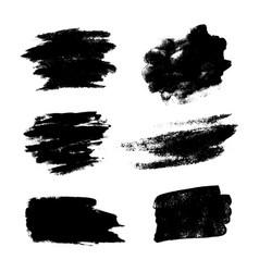 set of black grunge brushes vector image
