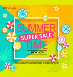 summer super sale banner vector image vector image