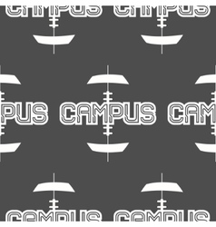 American football campus seamless pattern in vector image vector image