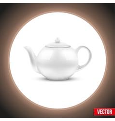 Background of White ceramic teapot vector image
