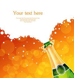 Champagne back vector