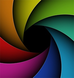 Colorful shutter aperture vector image vector image