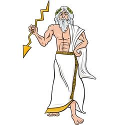 greek god zeus cartoon vector image