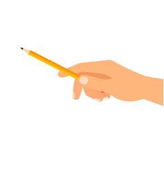 hand with building pencil vector image vector image