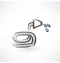 hose grunge icon vector image
