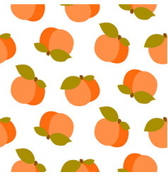 peach seamless pattern on white vector image