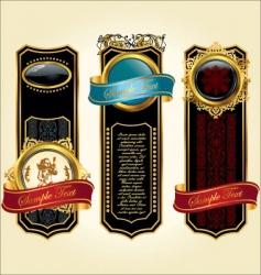 vintage labels design vector image vector image
