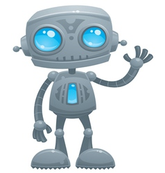 waving robot vector image