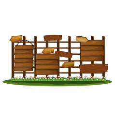 wooden signs in the garden vector image vector image