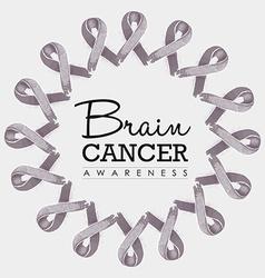 Brain cancer awareness ribbon design vector
