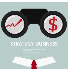 Businessman Looking for growth chart and money vector image vector image