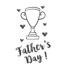 hand draw design father day celebration vector image