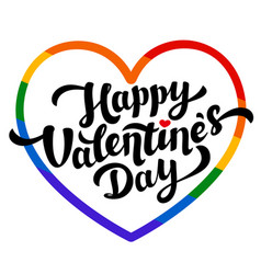 lgbt community happy valentines day greeting card vector image vector image