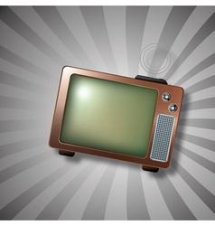 retro tv antenna vector image vector image
