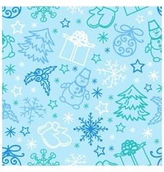 seamless pattern Christmas Figures vector image