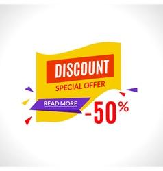 Super sale banner design template best offer vector image