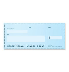 bank cheque vector image vector image