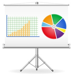 business graphics concept vector image