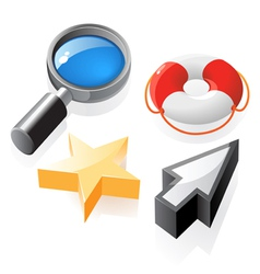 Isometric icons interface elements vector image