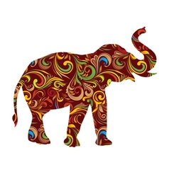 Red Elephant Ornamental vector image