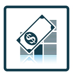Stack of banknotes icon vector image vector image