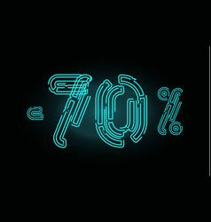 70 sale poster concept seventy percent discount vector image