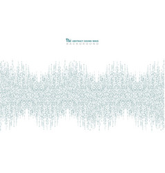abstract blue square pattern of sound wave design vector image