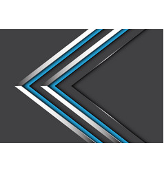 Abstract twin blue silver line direction on grey vector