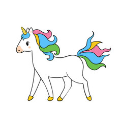 Beautiful running unicorn for vector