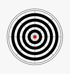 Black and white dart board background vector