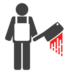bloody butcher flat icon symbol vector image