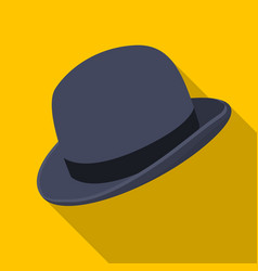 Bowler hat icon in flat style isolated on white vector