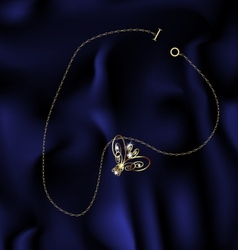 Bracelet butterfly vector