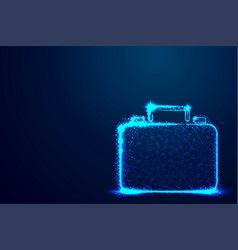 briefcase briefcase businessabstract low poly vector image