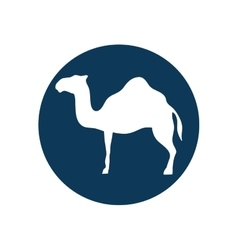 Camel animal silhouette vector