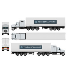 cargo truck template vector image