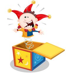 Cartoon jack in box vector