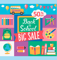 chalkboard and hand drawn lettering back to school vector image