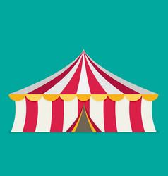Circus tent flat design vector