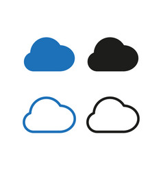 cloud icon set simple vector image