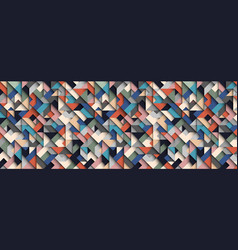 colorful abstract geometric background 3d vector image