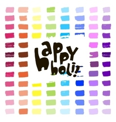 Colorful artistic hand drawn happy holi card vector