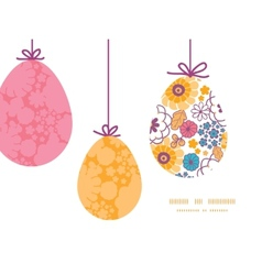 Colorful oriental flowers hanging Easter vector