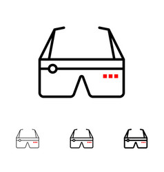 Computer computing digital glasses google bold vector
