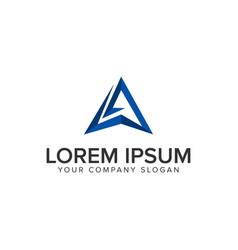 creative modern letter a logo design concept vector image