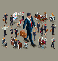 Dark people isometric people vector