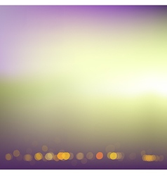 Defocused landscape in retro color Eps 10 vector image