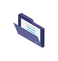 Digital file isometric icon design vector